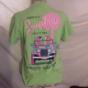 Green Simply Southern Tee (FREE STICKER)
